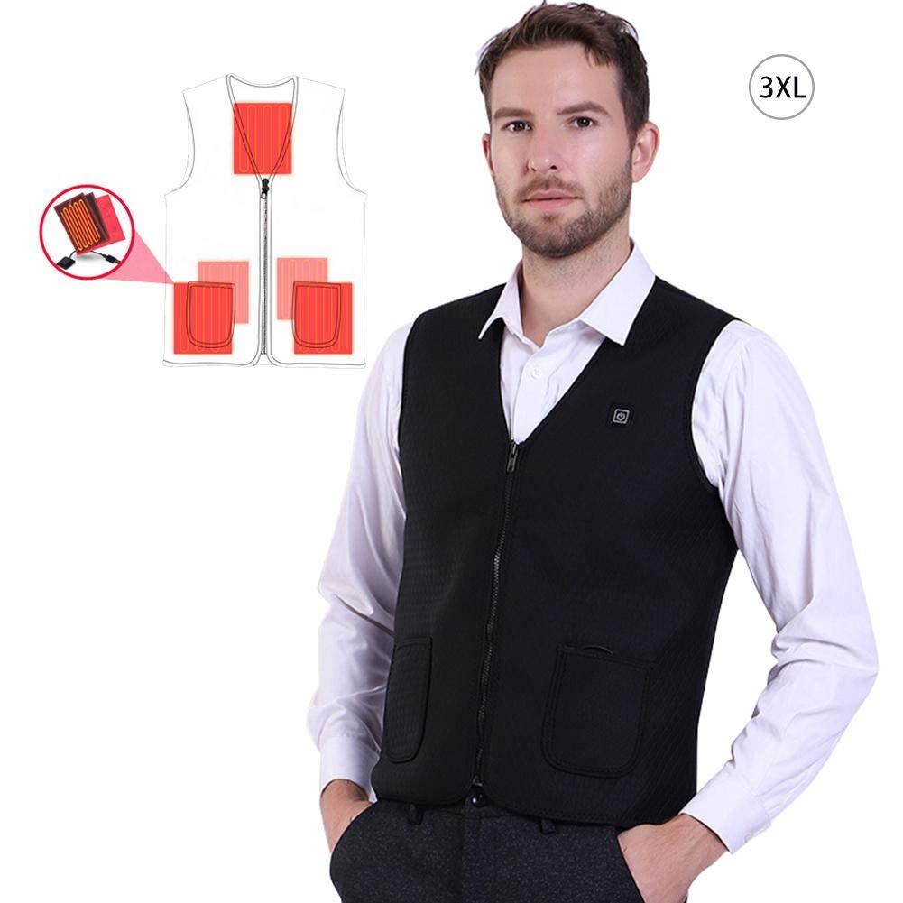Oshide Calentadores Chalecos Acampada y Senderismo Ciclismo USB Electric Vest Vest Heated Outdoor Vest Electric Security Vest c37be0