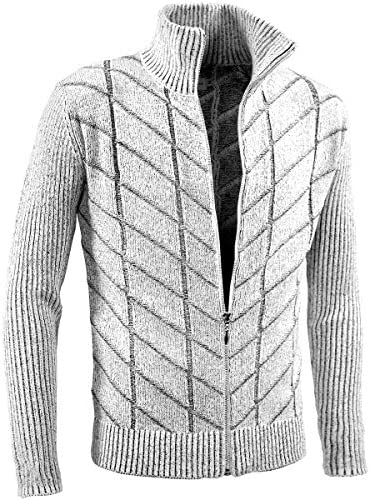 ヴィオラ ビオラ ニット フルジップアップ チェック柄 メランジ 薄手 ニットジャケット メンズ ホワイト白グレー灰 01207