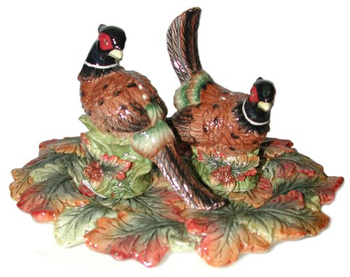 Spode Harvest Pheasant Salt and Pepper with Tray
