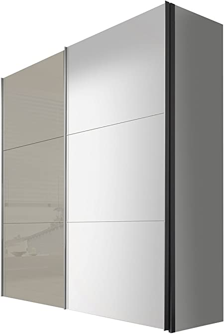 Solutions 43660 – 319 – Armario de Puertas correderas 200 x 236 x 68 cm, Color Blanco/Cristal Sahara: Amazon.es: Hogar