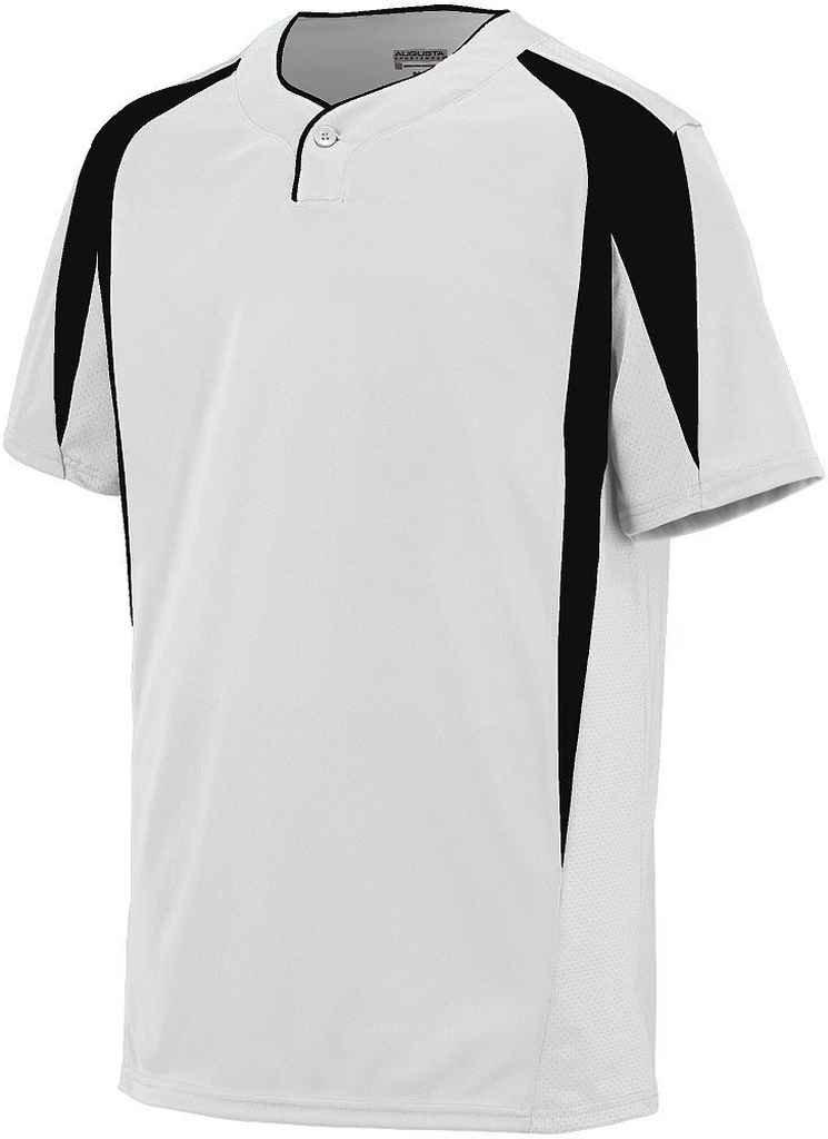 Augusta Sportswearメンズフライボール野球ジャージー B00P53TETU xx-large|ホワイト/ブラック ホワイト/ブラック xx-large