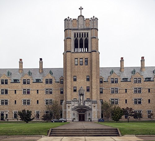 24 x 36 Giclee Print of Le Mans Hall a Dormitory and Central Administration Building Constructed in 1926 at Saint Mary's College a Four-Year Catholic Women's Liberal-Arts College in Notre Dame Ind by Vintography
