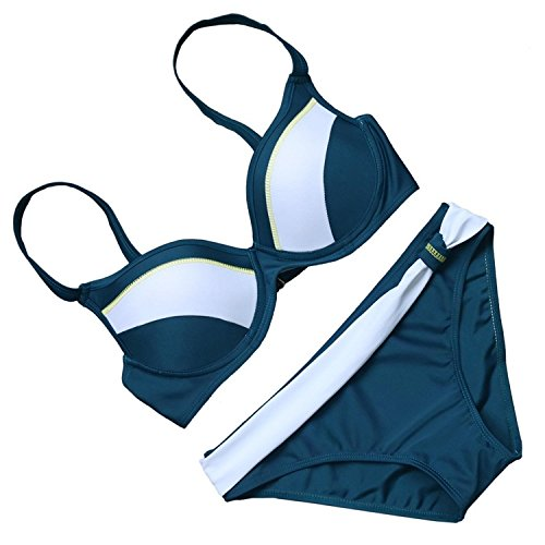 Sonder Charming Women's Padded Push Up Bikini Solid Color 2 Pcs Swimsuit...