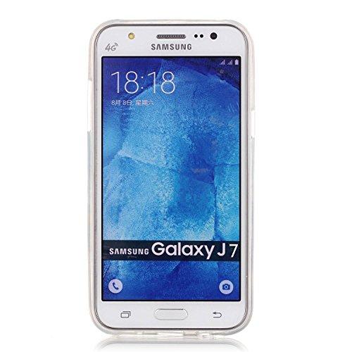 [Extremadamente Delgada] Funda Soft TPU TPU Silicona Transparent para Samsung Galaxy J7 (2015) ,Samsung Galaxy J7 (2015) Case Ultra Fina Cristal Clear, TOCASO Cute Pattern Cubierta Crystal Colored Pat Diente de León