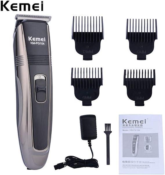 Cortapelos eléctrico Kemei recargable, cortador de pelo ...