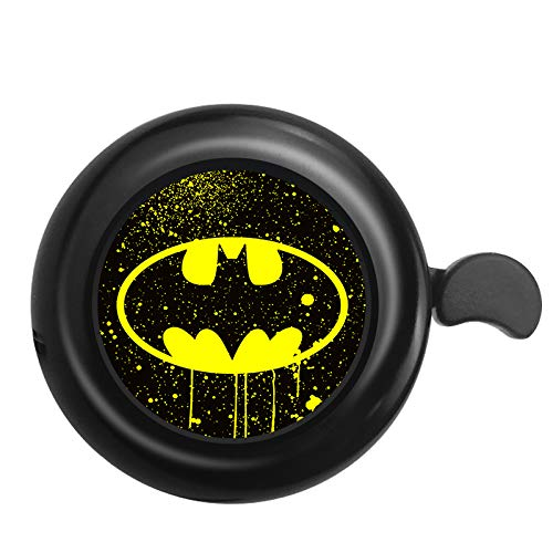 Surmoler Classic Bike Bell Aluminum Loud Sound Bicycle Bell Bike Accessory for Adults Kids,Right Hand - Batman