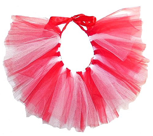 PAWPATU Team Spirit Tulle Tutu for Small Dogs Handcrafted in USA Red and White
