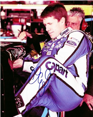 Autographed Carl Edwards 2011 Copart Racing Team  Garage Area  Signed 8X10 Nascar Glossy Photo With Coa