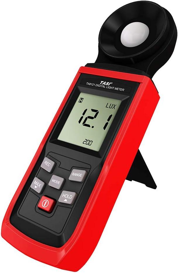 KKmoon Digital Luxmeter Mini LCD Luminometer Tragbare Photometer Belichtungsmesser Beleuchtungsst/ärke Lichtmesser Illuminometer 0-199999 Lux mit Max//Min//Data Hold Modus