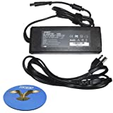 HQRP 120W AC Adapter Charger for HP Elitebook 8570p 8530p 8530w 8730w 8570w 8730w 8760w 8770w Laptop Notebook, Power Supply + HQRP Coaster