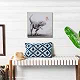 Wall Art for Living Bedroom Abstract Canvas Wall Art Hand Painted Animal Wall Art Picture Wall Art Painting Canvas Art Wall Decor Dinosaur and Cupid 12 inches X 12 inches