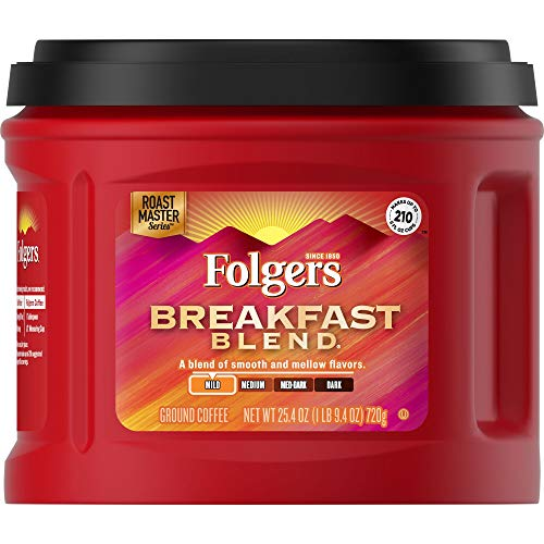 Folgers Breakfast Blend Coffee, Mild Roast Ground Coffee, 25.4 Ounces