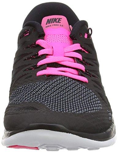 5 Pow Schwarz Running black De Negro Mujer white 0 Zapatillas pink Nikefree 4wxdp4