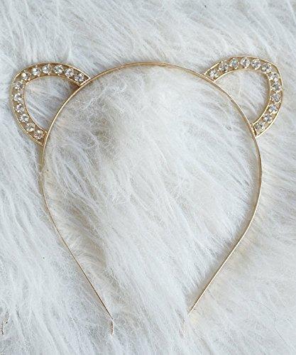 bff16e66d Amazon.com: Simple Gold Crystal Cat Ears, Jewel Cat Ears, Gold Cat ...