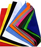 Feutrine 1mm - 24x30cm - Polyester - Assort. de 12 coupons - Sodertex