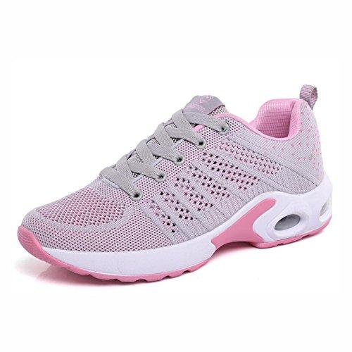EIN der Turnschuhe Sich Sport Farbe Größe Schuhe Plattform Breathable Schuhe gehende Stoß Eignungs Frauen Schuhe Oben C schnüren Laufende 40 Leichtgewicht YaXuan PT1nqOEwZ