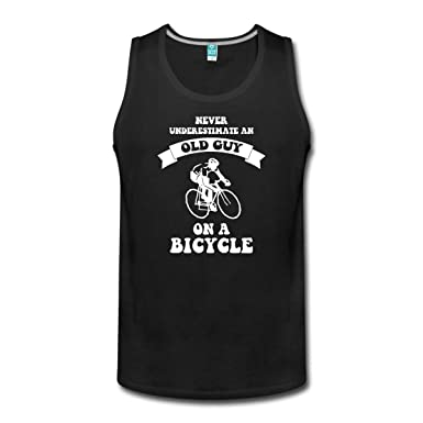 d35b71378c0 Spreadshirt Never Underestimate an Old Guy On A Bicycle Men s Tank ...
