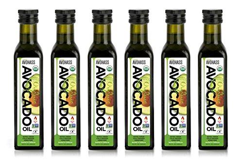 Avohass California Organic Extra Virgin Avocado Oil 6 Bottle Case