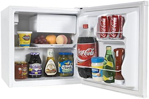3. Haier HCR17W 1.7 Cubic Feet Refrigerator/Freezer, White