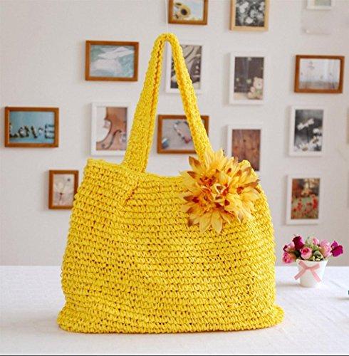 Handtasche aus der Strand-Handtasche Strand des Tasche der Strand der Blume Frauen D C Mb5R3A