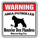 [SignJoker] BOUVIER DES FLANDRES Security Sign Area Patrolled Wall Plaque Decoration