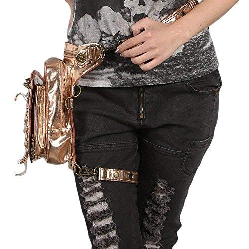 Deportes la Gold PU de del la del las de Bolso personalidad al multifuncional cintura de hombro la cintura de cuero libre aire personalidad la mujeres de de Bolso la xSq7wzSAf