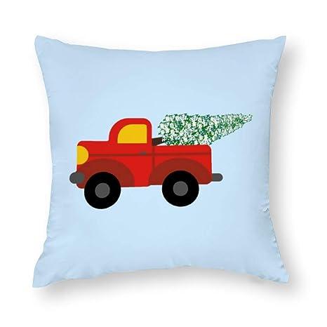 wendana - Funda de cojín Decorativa con diseño de camión ...