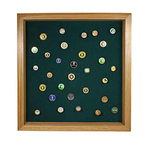 Golf Ball Marker Display with Acrylic Cover (Oak)