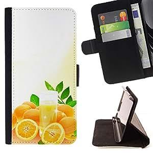 Momo Phone Case / Flip Funda de Cuero Case Cover - Frutas Naranjas Macro - Samsung Galaxy S5 Mini, SM-G800