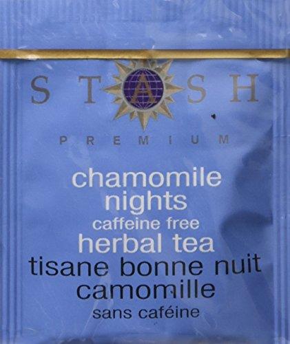 Sweet Breath Herb Tea - Stash Tea Chamomile Nights Herbal Tea 10 Count Tea Bags in Foil (Pack of 12) (Packaging May Vary) Individual Herbal Tea Bags for Use in Teapots Mugs or Cups, Brew Hot Tea or Iced Tea