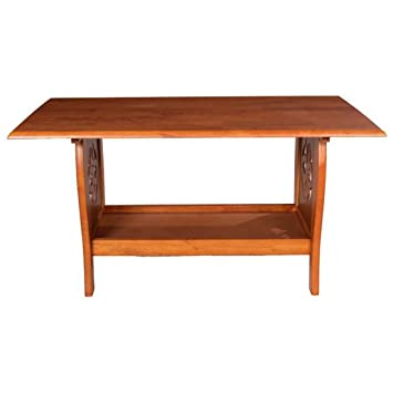 Woodness Tulip Coffee Table (Matte Finish, Dark Oak)