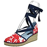 Tommy Hilfiger Little Kid/Big Kid Brooklyn Espadrille,Red Hibiscus,12 M US Little Kid