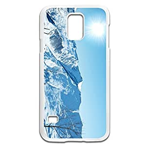 Samsung Galaxy S5 Cases White Mountains Design Hard Back Cover Cases Desgined By RRG2G