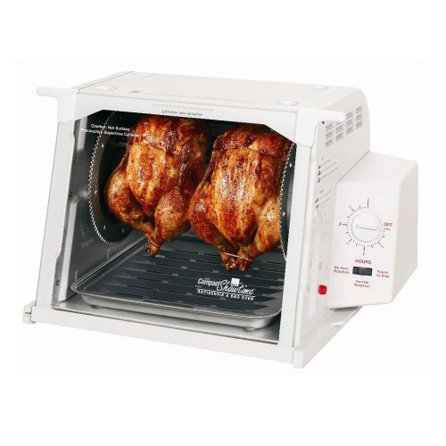 Ronco 3000 Series Rotisserie-White (Forget Set It Rotisserie And)