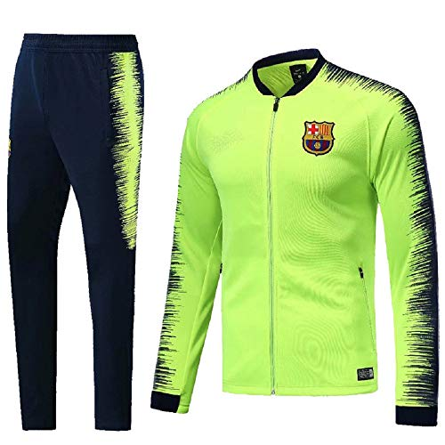 Sykdybz Club Long-Sleeved Jersey Football Uniform Suit Team Appearance Competition Training Suit, Green, XL ()