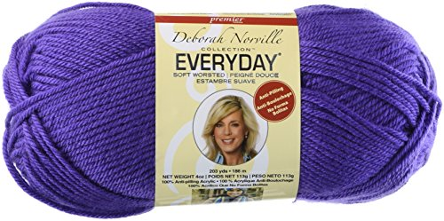 Premier Yarn Deborah Norville Collection Everyday Solid Yarn, Violet (Pack of 3)
