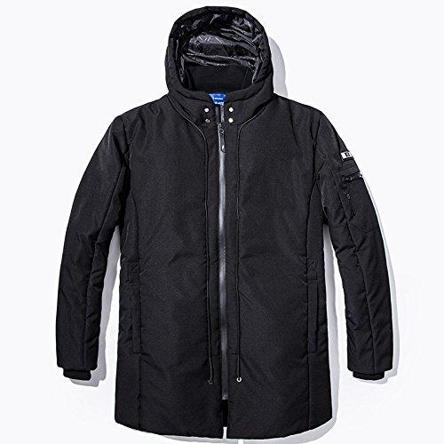 Spessore Degli Casuale Outwear Incappucciato Nero Giacca Lsm Di Imbottita Caldo Uomini Inverno cappotto wadISSx