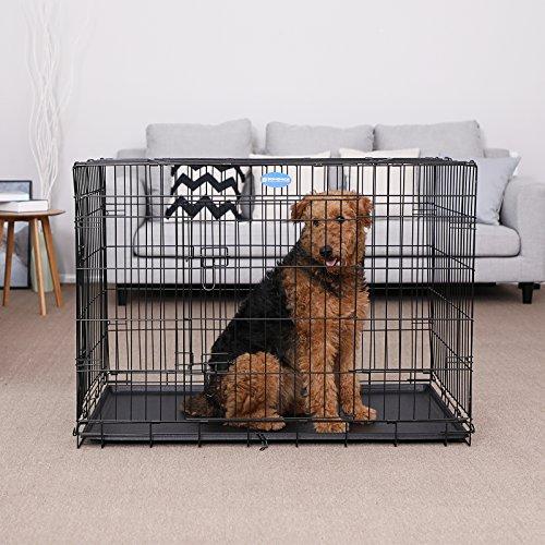 Songmics Jaula metálica para perros Transportín plegable para mascotas (XL 106 x 70 x 77,5 cm): Amazon.es: Productos para mascotas