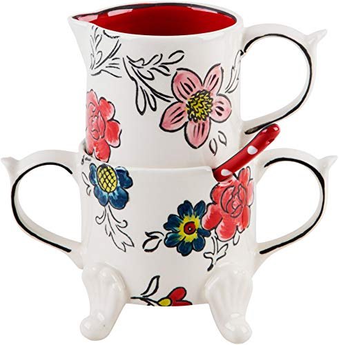 Home Essentials Molly Hatch Flower Patch Sugar/Creamer/Spoon Set