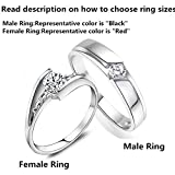 1PCS New Trending Couples Jewelry His And Hers 925 Sterling Silver Crystal Drill Cute Ring ,Unique Couples Wedding Band Rings,Color Silver ,From Milkle Gift