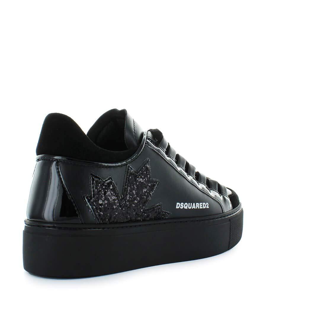 94071037f8d858 DSQUARED2 Damenschuhe Canadian Team Schwarz Sneaker Herbst-Winter 2019   Amazon.de  Schuhe   Handtaschen