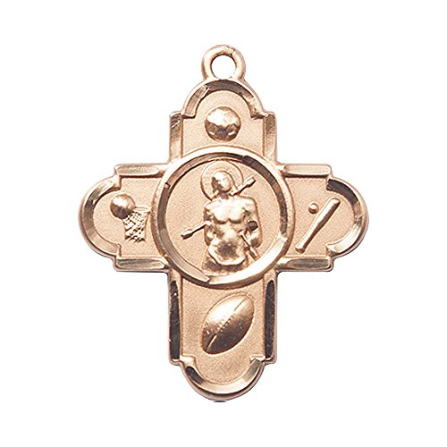 14kt Gold 5-WAY/ST. SEBASTIAN Medal. Patron Saint of Athletes/Soldiers 14kt 5 Way Medal