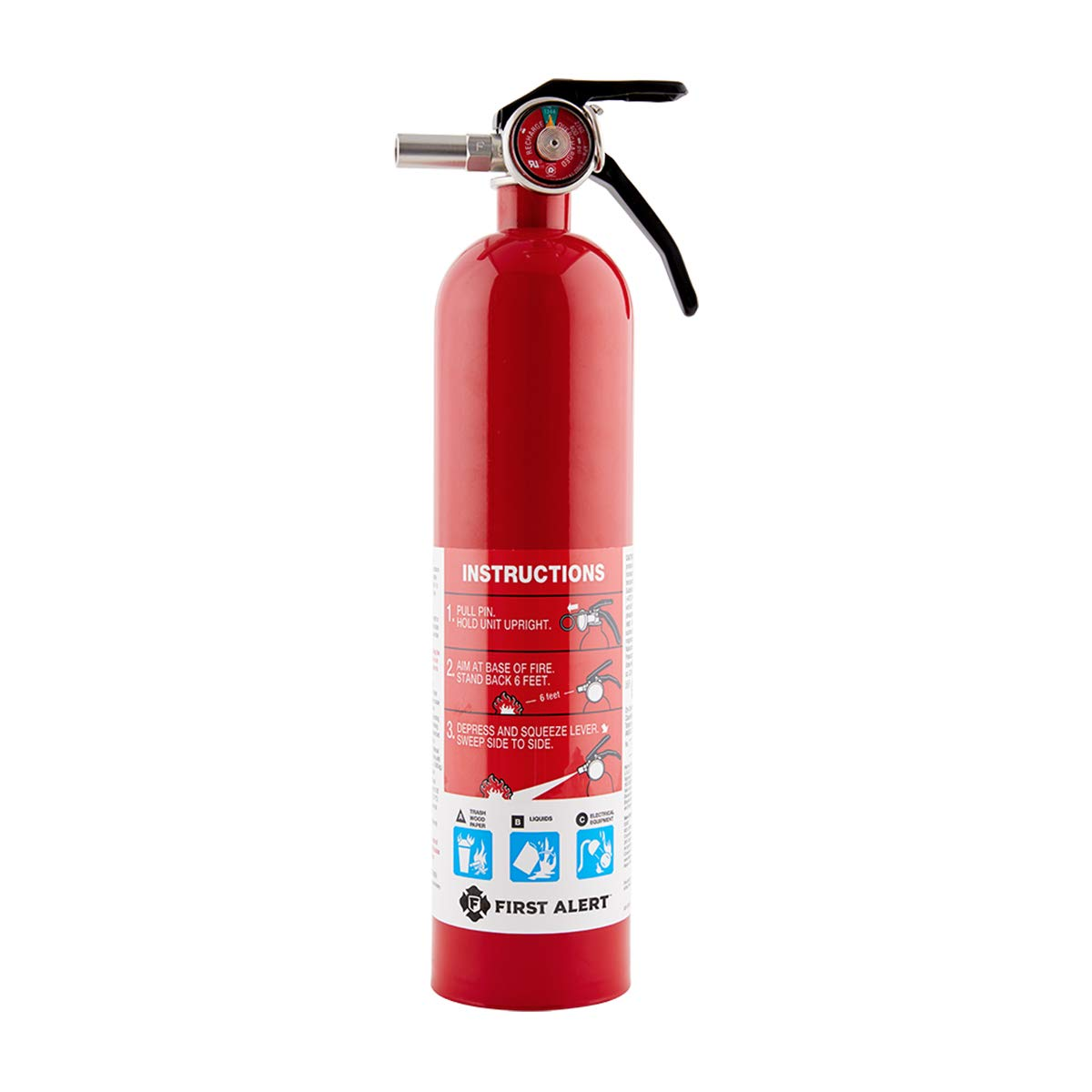 First Alert 1038789 Standard Home Fire Extinguisher Red