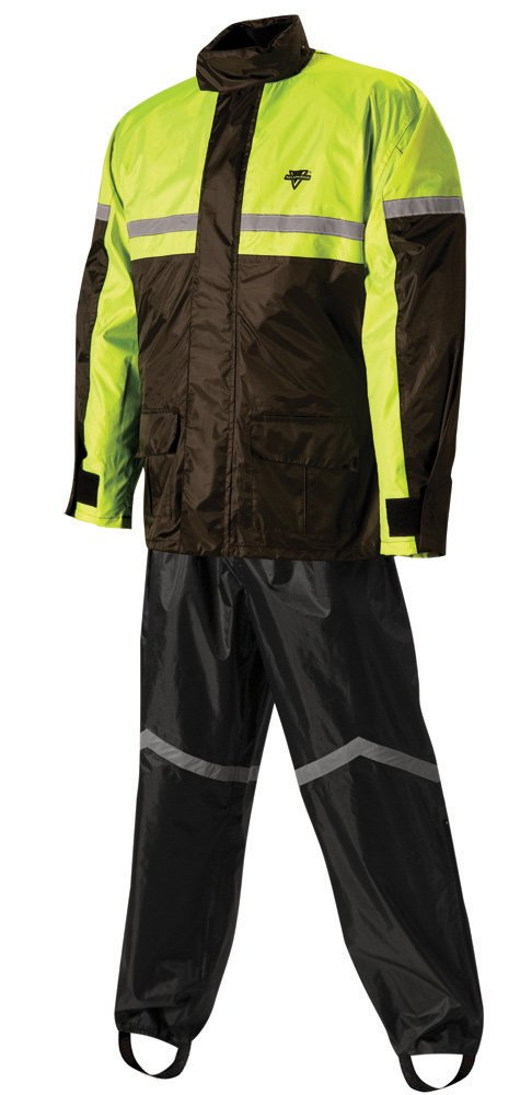 Nelson-Rigg Stormrider Rain Suit (Black/High Visibility Yellow, Large) by Nelson-Rigg