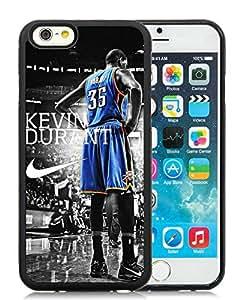 Oklahoma City Thunder Kevin Durant 3 Black Customize iPhone 6 4.7 Inch Silicone TPU Phone Case