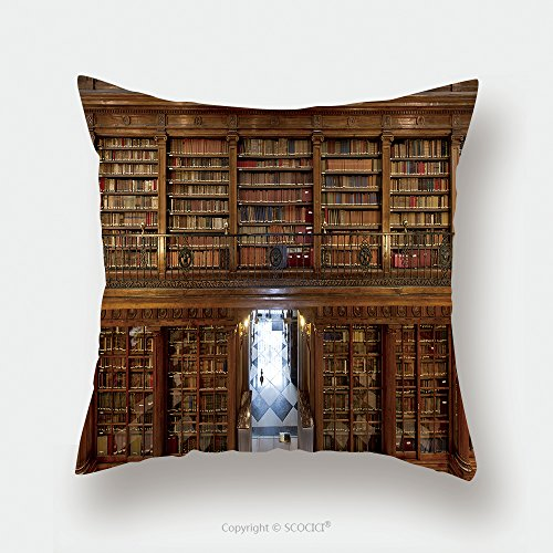 Custom Satin Pillowcase Protector A Wonderful Library Of Old Books Menendez Pelayo In Santander Spain 156209873 Pillow Case Covers Decorative by chaoran