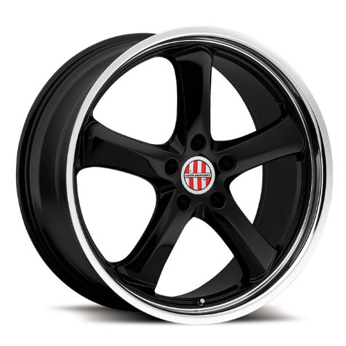 Victor Equipment Turismo 20 Black Wheel / Rim 5x130 with a 55mm Offset and a 71.5 Hub Bore. Partnumber - Bore 55mm