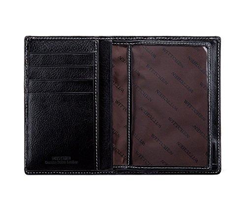 Negro 5 Colección Material Grano X 22 Cm 13 Cuero 020 De 1 Orientación Color 9 Wittchen Vertical Roma 5 1 Tamaño Billetera ExqwagtWz