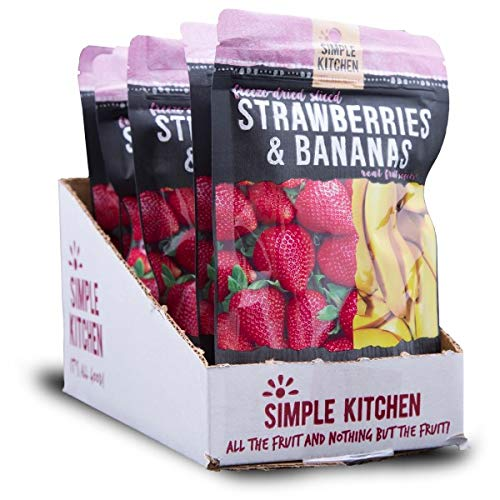 - Simple Kitchen Strawberries & Bananas - 1.1 oz Pouches (Pack of 6)