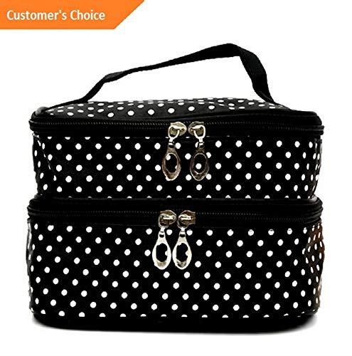 Werrox Large Polka Dot Makeup Bag Travel Cosmetic Box Cute Toiletry Bag Case Organizer | Model MKPRGZR - 271 -